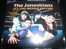 The Janoskians Set This World On Fire Rare Aust Signed Autographed CD Single CD