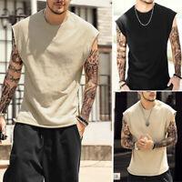 USA Gym Men Muscle Sleeveless Tank Top Tee Shirt Bodybuilding Sport Fitness Vest