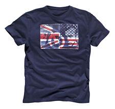 GENUINE Triumph Motorcycles James Dean Flag Mens T Shirt Navy Blue SALE!