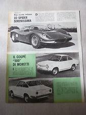 ARTICOLO FIAT COUPE' 500 MORETTI - FERRARI FANTUZZI  --  1965