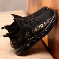 Children Sports Kids Shoes Boys Girls Running Sneakers Athletic Lace Mesh Breath