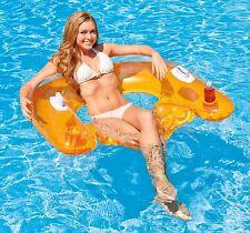 Matelas Fauteil de piscine Relaxant  Siège Semi-immergé  Porte gobelet   INTEX
