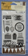 Hampton Art Vintologie Clear Stamp & Stencil - Birthday -  SC0646:  NEW!