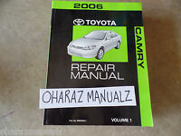 2006 TOYOTA Camry Service Manual Volume 1 SEE PICS FOR SUBJECTS OEM