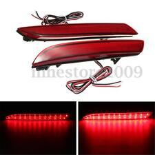 Pair 24 LED Rear Bumper Reflector Tail Brake Turning Light For Honda CR-Z CR-V