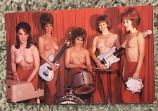 VTG 1960's Post Card Tipsy's, 1st All Girl Topless Band San Francisco, Calif