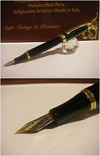 stilografica Regal British Princess fountain pen - Black Lacquer - Nib Rhodium