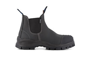 Blundstone 910 Boots Chelsea Work Safety Steel Toe Black Unisex Leather Ankle