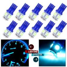 10Pcs Ice Blue T10 5SMD 5050 Car LED Wedge Light Plate License 194 2825 501 Bulb