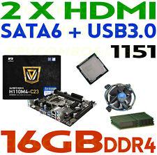 Intel Core i5-6500 CPU+16GB DDR4 RAM+ECS H110M4-C23 HDMI SATA6 USB3 Motherboard