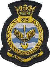 815 NAS Naval Air Squadron Royal Navy FAA Crest MOD Embroidered Patch