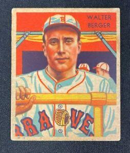 1935 DIAMOND STARS BASEBALL CARD WALTER BERGER #25 EX RANGE