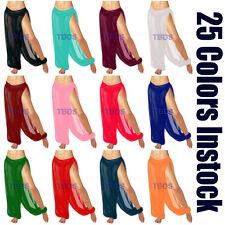 Women Student Slit Harem Yoga Genie Trouser Belly Dance Pant Pantaloons |25Color
