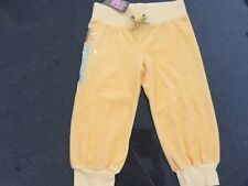 NWT Juicy Couture New & Gen. Girls Age 8 Yellow Cotton Crop Cuff Leg Track Pants