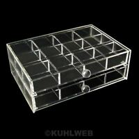 12 f cher schmuckbox transparent kosmetische kosmetik organizer box kiste acryl ebay. Black Bedroom Furniture Sets. Home Design Ideas