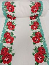 Vintage STYLE Kitchen Towel Fabric Moda Rodeo Rose Aqua 920-174