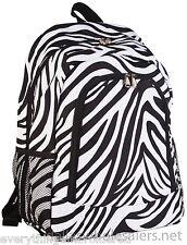 "Personalized Backpack Book Bag Zebra Black White Initial(s) or Name Free 16""x12"""