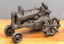 Cast Iron Antique Replica Iron Wheel  Farm Tractor Figurine Home Country Decor