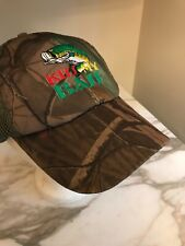 Kiss My Bass Strapback Hat Camo Cap Camouflage Redneck Fishing Fish Embroidered