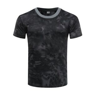 Typhon Mens Tactical T-Shirt Short Sleeve Army Military Casual Outdoor Camo XL