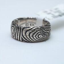 "New DAVID YURMAN Men's 10mm ""Iron Wood"" 925 Silver Band Ring Size 9 NWT"