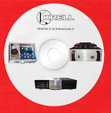 Krell Audio Repair Service schematics and owners manuals on 1 dvd in pdf format