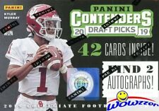 2019 Panini Contenders Football Draft Picks EXCLUSIVE Blaster Box-2 AUTOGRAPHS