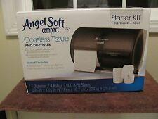 Angel Soft Compact Coreless Tissue and Dispenser Starter Kit~New Factory-Sealed~
