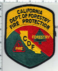 California Dept of Forestry Fire Protection CDF Uniform Take-Off Patch from 2001