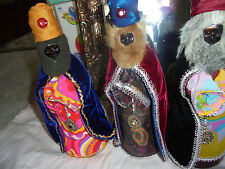 Vintage 3 Wise Men Christmas decorations handmade from old syrup bottles CHIC