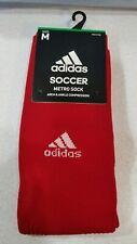 Adidas Metro Men's Soccer Socks Ankle Compression 1 Pair Medium Size 5 - 8.5 Red