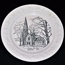 GOSHEN NY 1st PRESBYTERIAN CHURCH PLATE - Edwards China Glassware MD - Eggshell