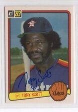 Tony Scott 1983 Donruss signed auto autographed card Astros