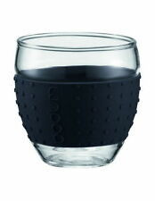 NEW Bodum Pavina Glass with Silicone Band, 2 Piece, 350ml - Black