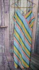 VICTORIA SECRET Rainbow Stripe Long Chemise Lingerie~Nightgown~Gown SMALL Rare