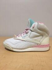 Vintage Hi Top Sneakers Club Reebok Women's 6 White Pink Blue