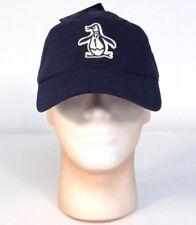 Penguin Logo Navy Blue Adjustable Cotton Baseball Cap Hat Adult One Size NWT