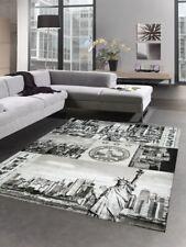 Designer tapis new york crème gris noir