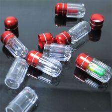 2pcs Pocket Waterproof Bottle Capsule Tube Pill Case Medicine Box Liquid Holder