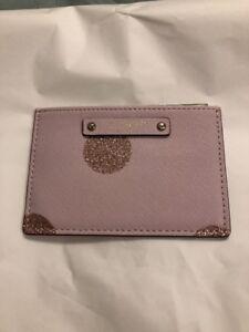 Kate Spade Credit Card Case ID holder business card Graham haven lane pink dot