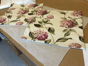 TWO LAURA ASHLEY HANDMADE CUSHION COVERS IN HYDRANGEA PINK