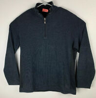 Tommy Bahama Reversible Quarter Zip Black Pullover Sweater Mens L Large