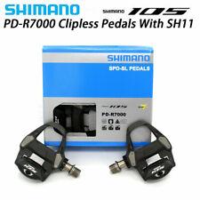 Shimano 105 PD-R7000 Carbon SPD-SL Road Bike Pedals set w/SM-SH11 31° Adjustable