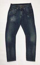 jeans uomo usato gamba dritta slim curvo relaxed W30 tg 44 blu boyfriend T3455