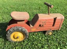 Vintage 1930's or 1940's Pressed Steel Keystone Ride 'Em Toy Farm Tractor No 75