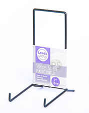 """Black Wire LARGE Stand 15.5cm, 6"""" : Leeds Display Strut, Plate, Photo ST04BL"""