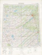 Russian Soviet Military Topographic Maps - NOVOSIBIRSK (Russia) 1:1Mio, ed.1987