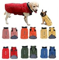 SMALL LARGE dog water-resistant retro quilted warm coat jacket clothes (harness)
