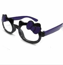 ANT Ribbon Frame Design Kids Fashion Glasses Eyewear - BLACK