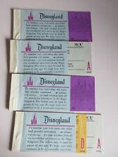lot of 4 DISNEY DISNEYLAND TICKET BOOKLETS 1970